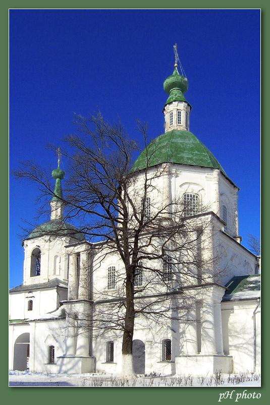 """фото """"""""...а рядом с деревом - храм стоит!"""""""" метки: архитектура, пейзаж, зима"""