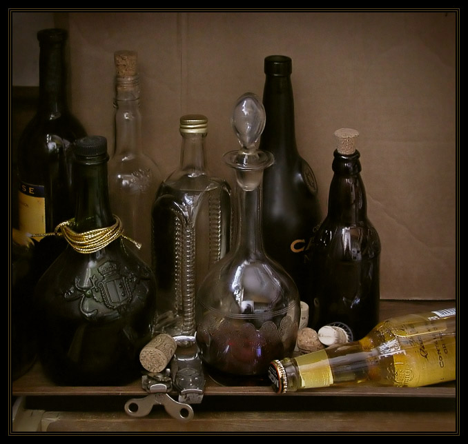 "фото ""Натюрморт с бутылками"" метки: натюрморт,"