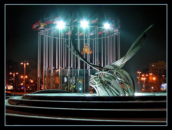 """фото """"Площадь Европы в Москве"""" метки: архитектура, пейзаж, ночь"""