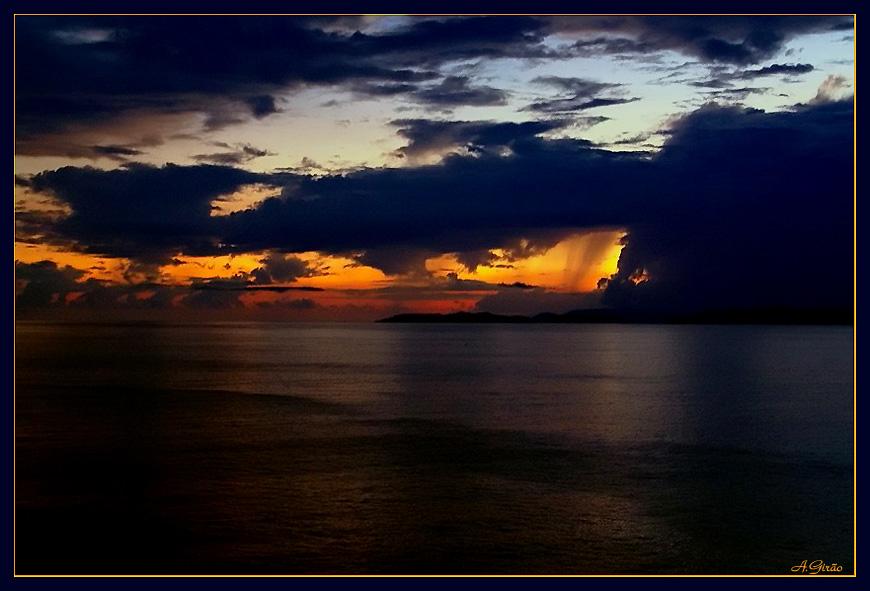 """фото """"Raining at Sunset"""" метки: пейзаж, путешествия, Северная Америка, закат"""