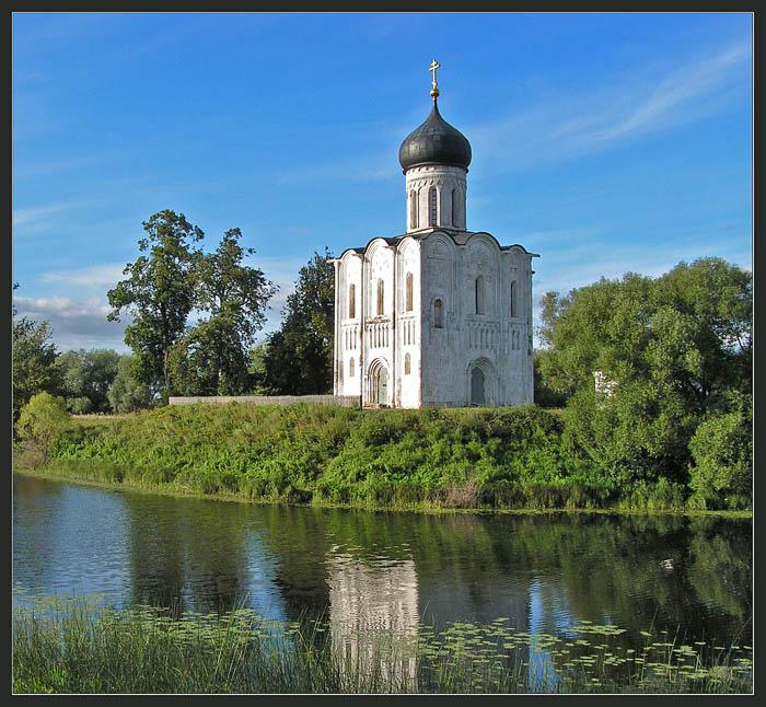 "фото ""Лебедь на Нерли"" метки: архитектура, пейзаж,"