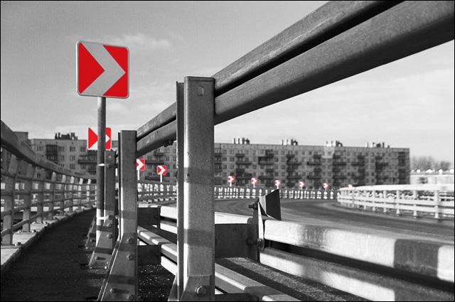 """фото """"Направо поедешь ..."""" метки: черно-белые, архитектура, пейзаж,"""