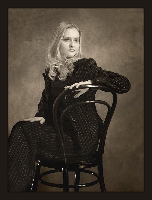 """фото """"-- Ксю --"""" метки: портрет, черно-белые, женщина"""