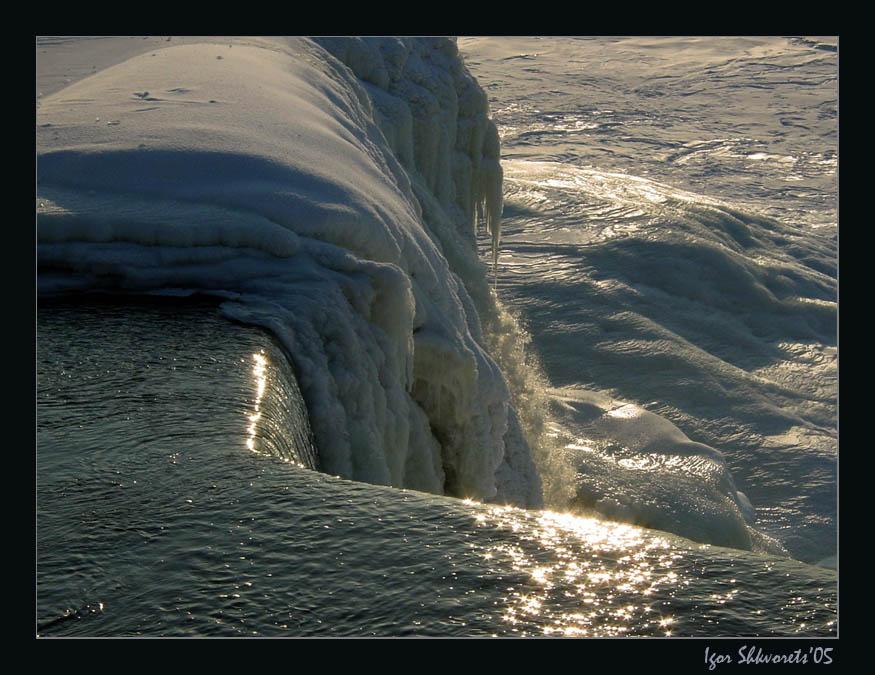 "фото ""Freezing Falls"" метки: пейзаж, вода, зима"