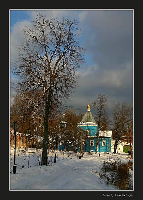 "фото ""Угрешский этюд-1"" метки: пейзаж, архитектура, зима"