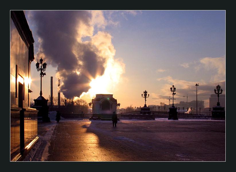 """фото """"Два солнца?"""" метки: архитектура, пейзаж, закат"""