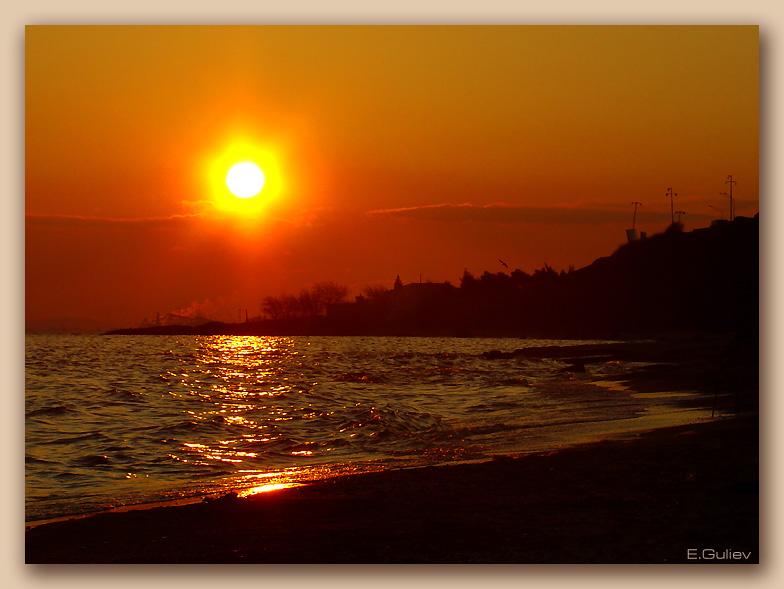 "фото ""Na zakate"" метки: пейзаж, вода, закат"