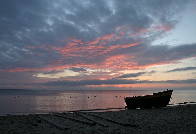 """фото """"Boat"""" метки: пейзаж, закат"""