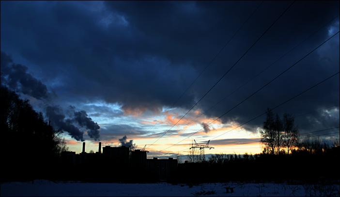 """фото """"Industrial Dusk"""" метки: пейзаж, архитектура, закат"""