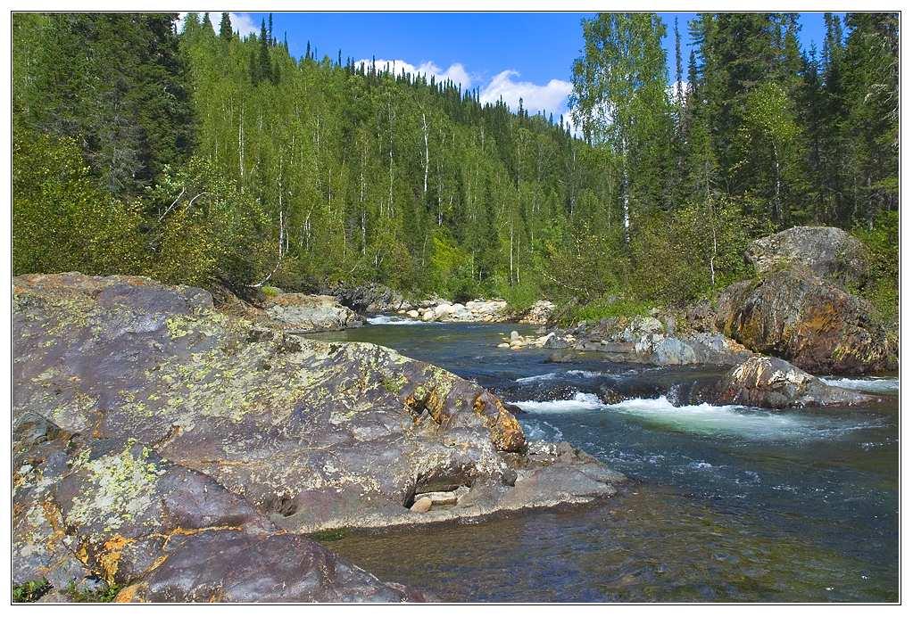 """фото """"Малый Казыр"""" метки: пейзаж, вода, горы"""