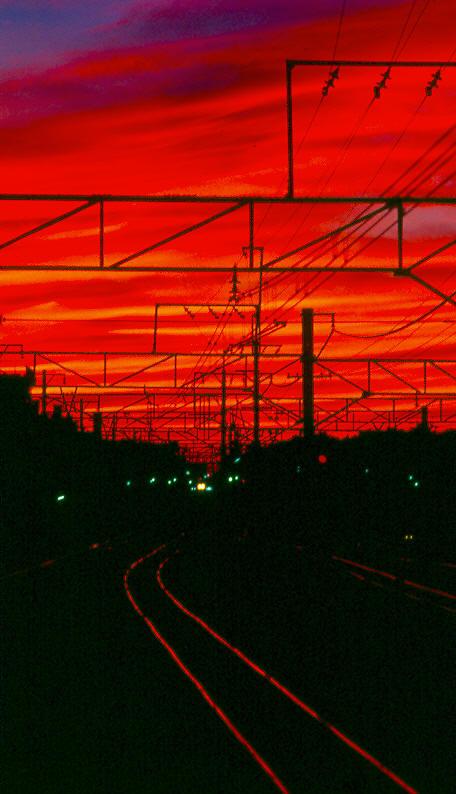 """фото """"First Light, First Train"""" метки: пейзаж, путешествия, Азия, закат"""