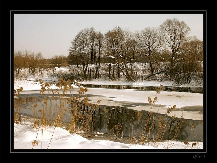 """фото """"Горячая река"""" метки: пейзаж, зима"""