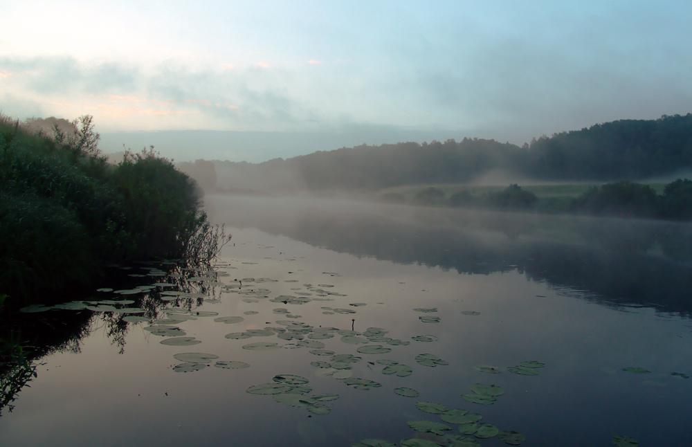 """фото """"Эх, туманы... (2)"""" метки: пейзаж, закат"""