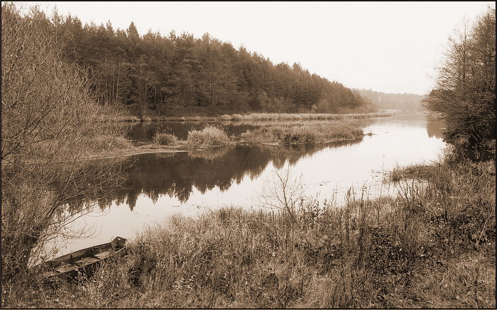 "фото ""пейзаж с лодкой"" метки: черно-белые,"