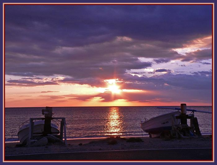 "фото ""The beach"" метки: пейзаж, вода, закат"