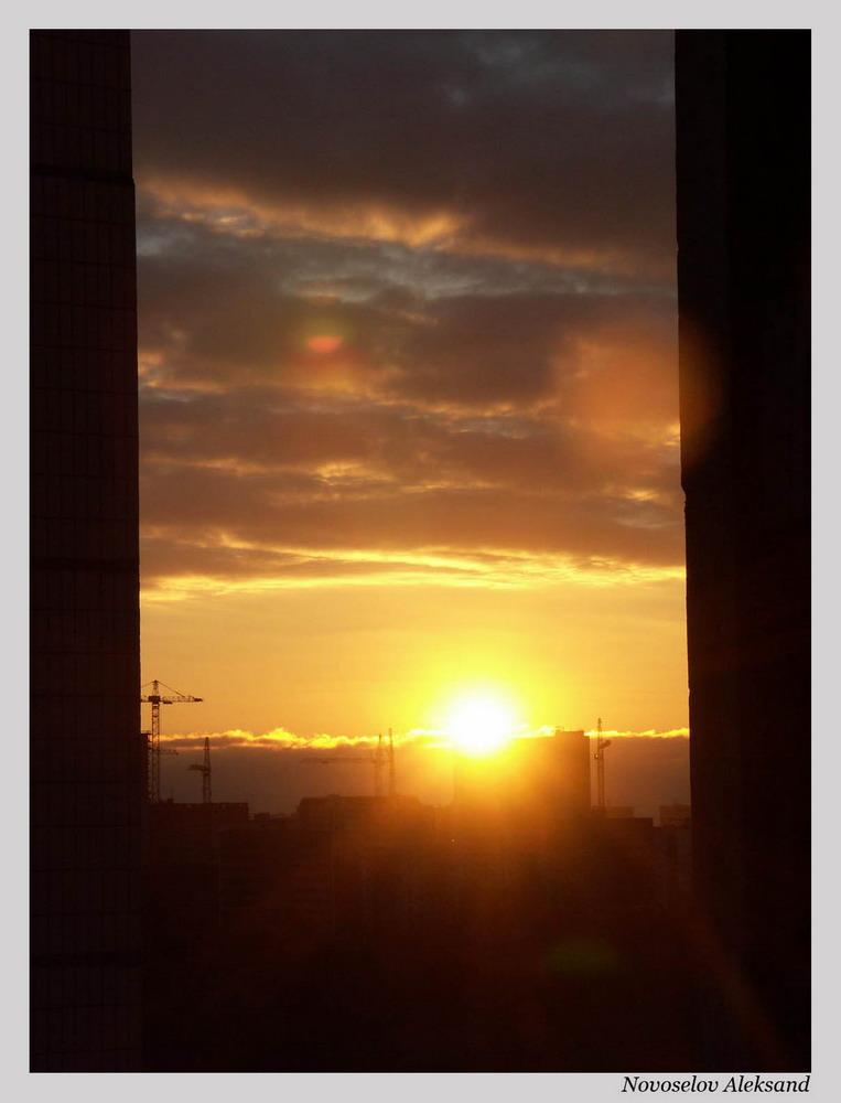 """фото """"закат солнца в городе"""" метки: архитектура, пейзаж,"""