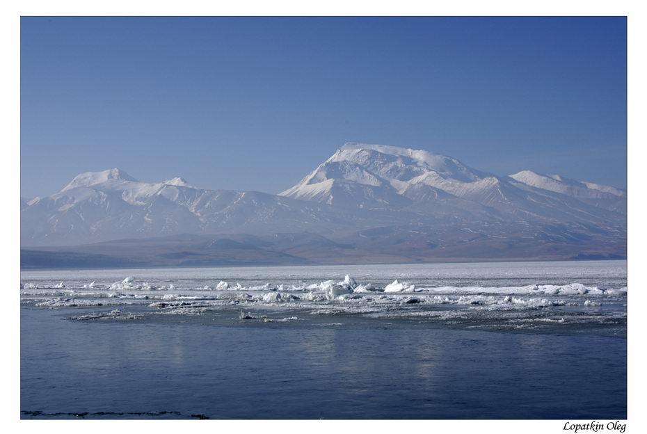 """фото """"Озеро РакшасТал , Тибет, высота 4500 м"""" метки: путешествия, пейзаж, Азия, вода"""