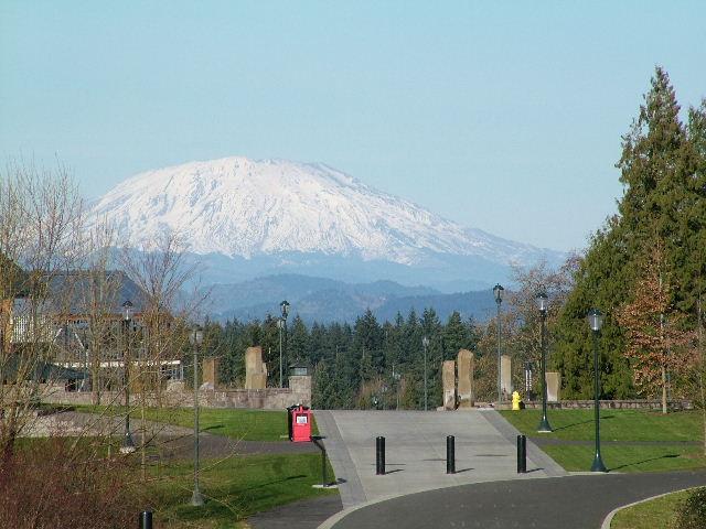"фото ""Mount St.Helens from Washington State campus in Va"" метки: пейзаж, путешествия, Северная Америка, горы"