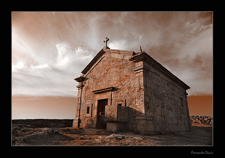 """photo """"Chapel in the mountain"""" tags: architecture, landscape, mountains"""