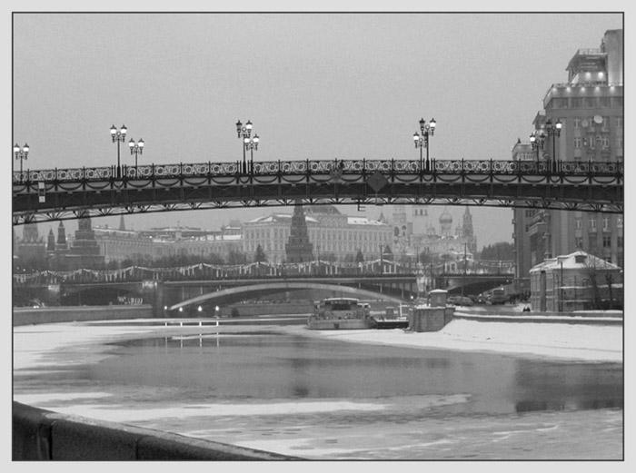 """фото """"Вечерние мосты"""" метки: черно-белые, архитектура, пейзаж,"""