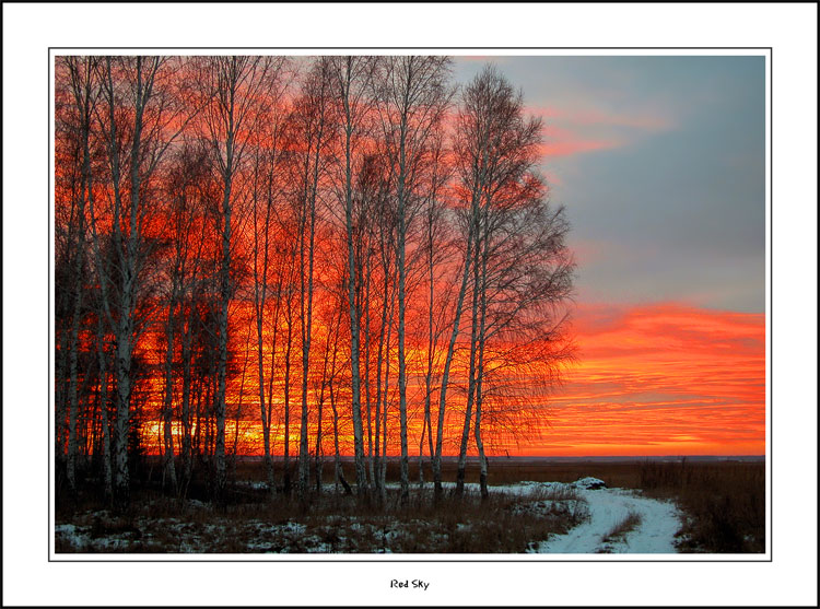 """photo """"Red Sky"""" tags: misc., landscape, sunset"""