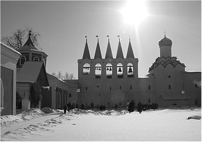 "фото ""Тихвин"" метки: черно-белые, архитектура, пейзаж,"