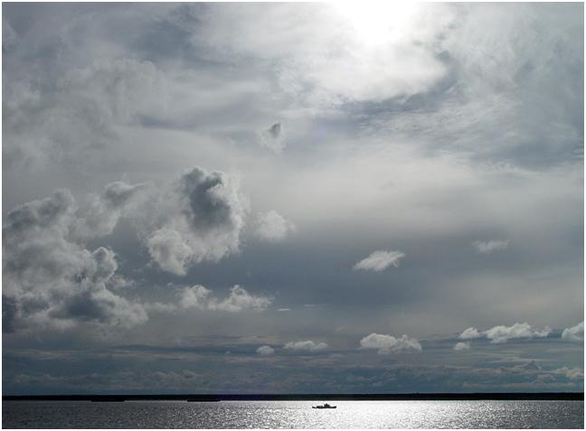 "фото ""Енисейские небеса"" метки: пейзаж, вода, облака"