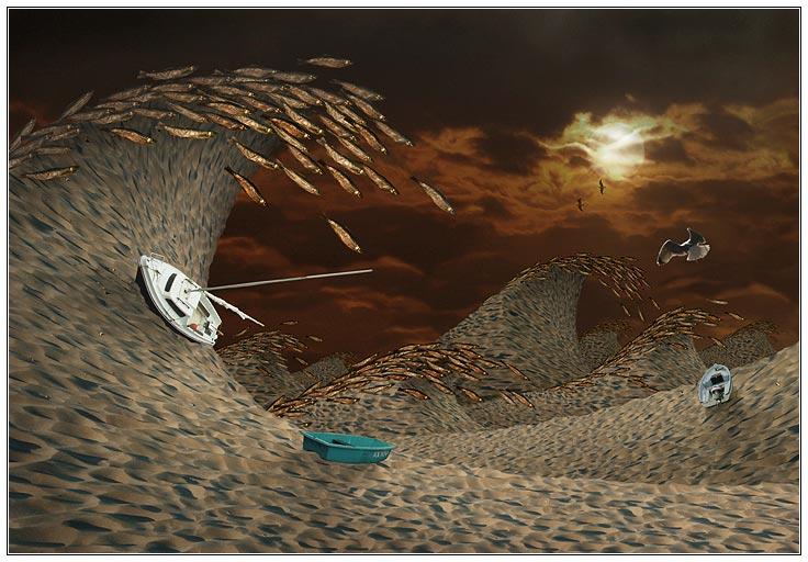 "photo ""Storm in Desert"" tags: montage, digital art,"