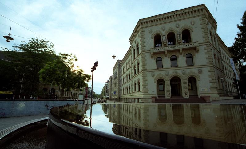 "photo ""Bergwerksdirektion"" tags: architecture, travel, landscape, Europe"