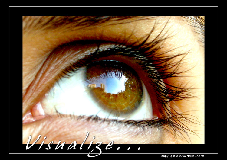 "photo ""Visualize"" tags: portrait, macro and close-up, woman"