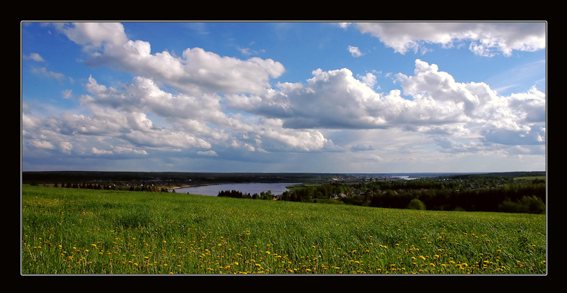 "photo ""Open space"" tags: landscape, clouds, summer"