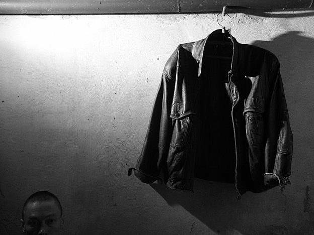 "photo ""My jacket"" tags: black&white, misc.,"
