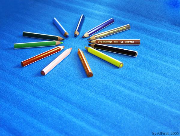 "photo ""Pencils :)"" tags: still life, humor,"