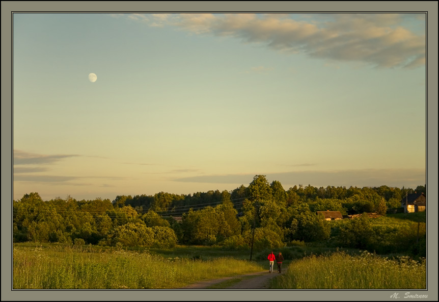"photo ""Evening walk."" tags: landscape, summer, sunset"