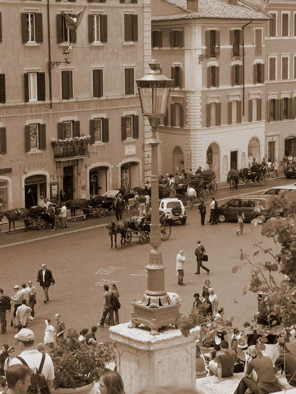 "photo ""Piazza di Spagna beyond the Light"" tags: architecture, travel, landscape, Europe"