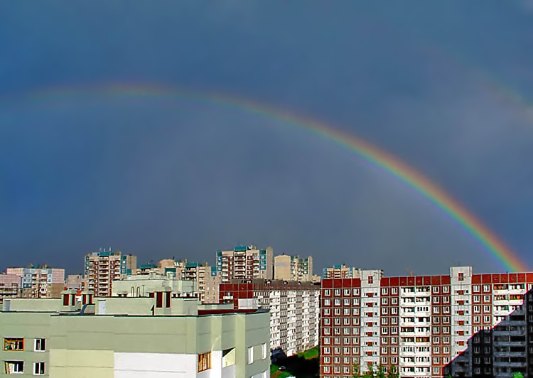 "photo ""Rainbow Landscape"" tags: landscape, architecture,"