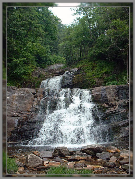 "photo ""Kent Waterfalls"" tags: travel, landscape, North America, water"
