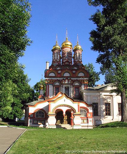 """photo """"Церковь св. Николы на Берсеневке"""" tags: architecture, montage, landscape,"""