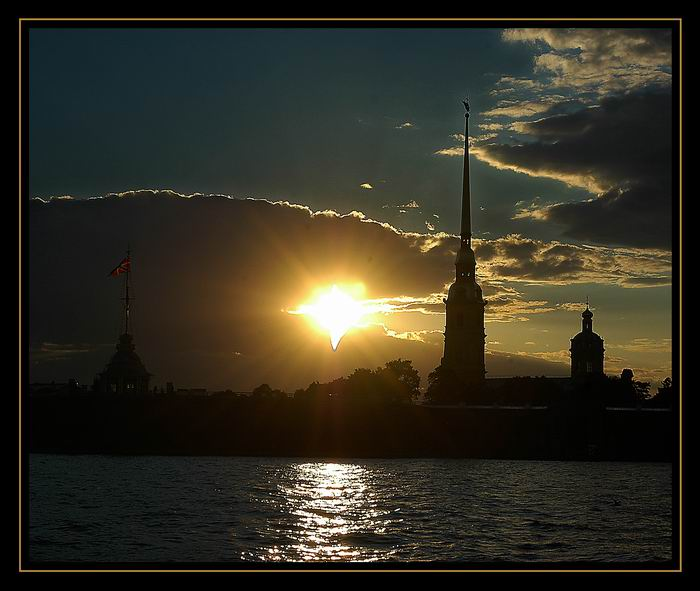 "photo ""City of white night"" tags: architecture, landscape, sunset"