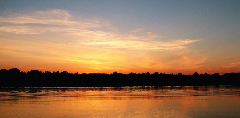 "photo ""Simple sunset"" tags: landscape, sunset, water"