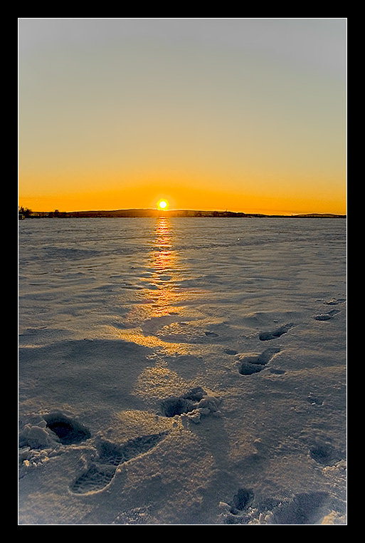 "photo ""remember the frost! :)"" tags: landscape, sunset, winter"