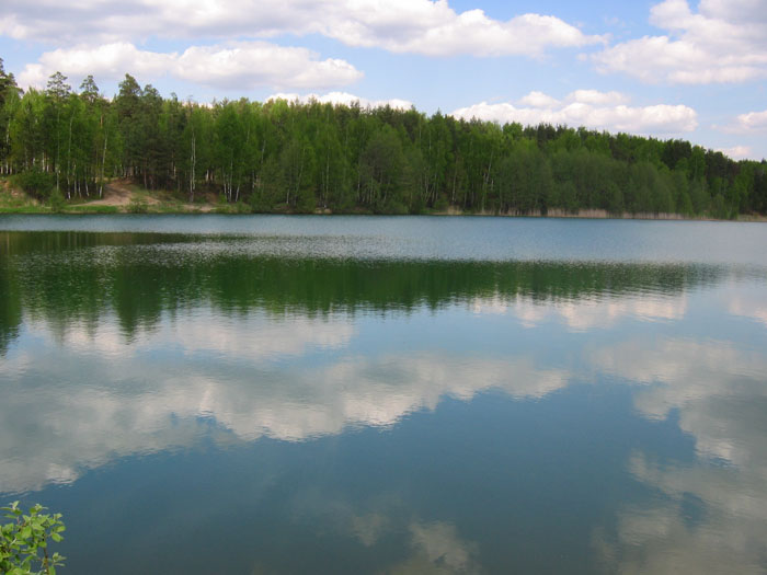 "photo ""blue lake"" tags: landscape, clouds, water"