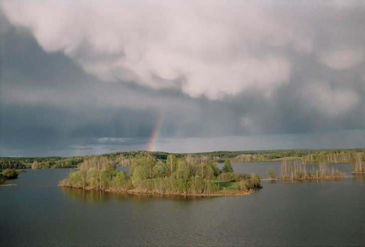 "photo ""Rainbow in kolodozero"" tags: landscape, clouds, water"