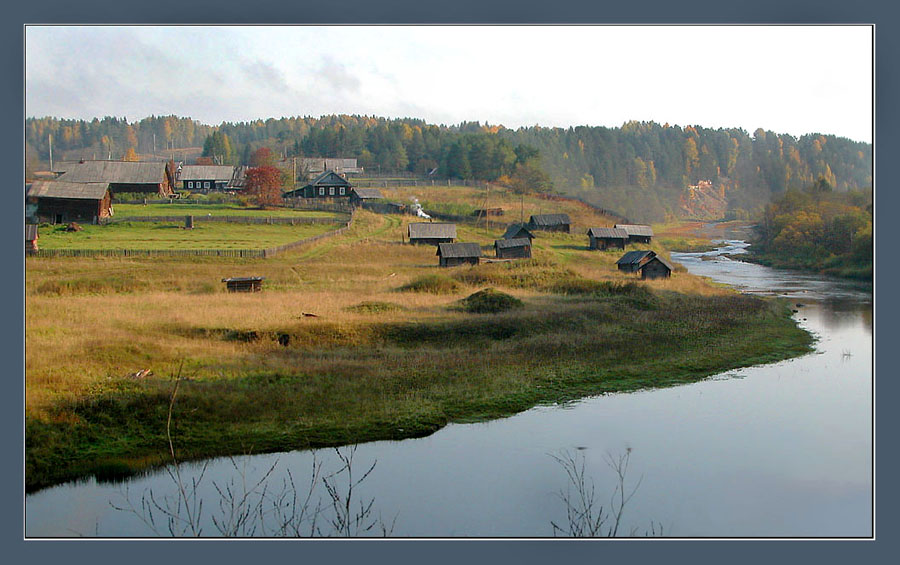 "photo ""Autumn morning in the Vologda village"" tags: landscape, nature, autumn"