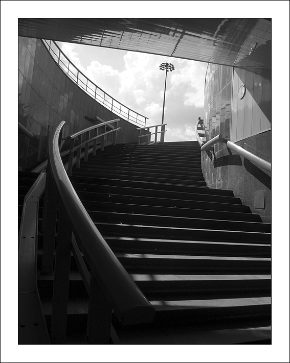 "photo ""Exit"" tags: architecture, black&white,"