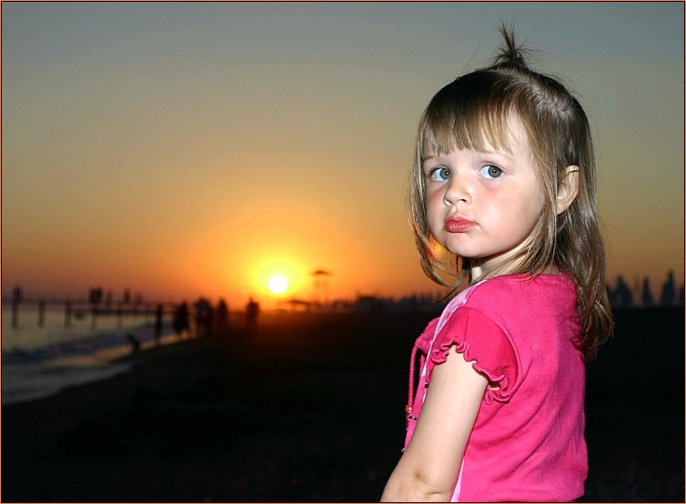 "photo ""Where The Sun Is Sleeping?"" tags: portrait, children"