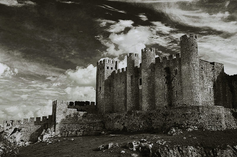 "photo ""Shadows of History"" tags: black&white, landscape, clouds"