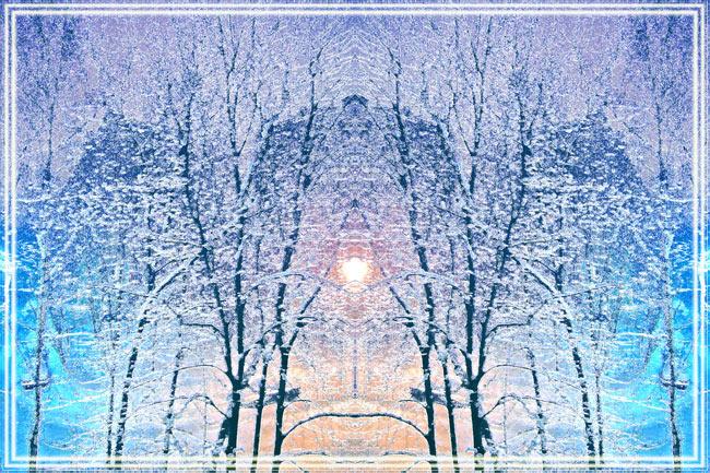 """фото """"Зимняя симметрия"""" метки: природа, пейзаж, зима"""