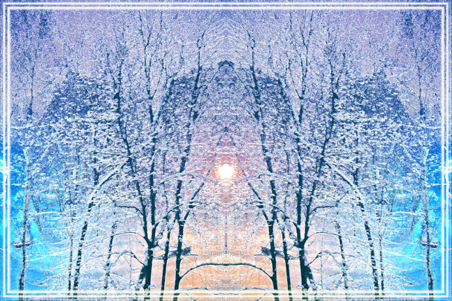 "photo ""Winter symmetry"" tags: nature, landscape, winter"
