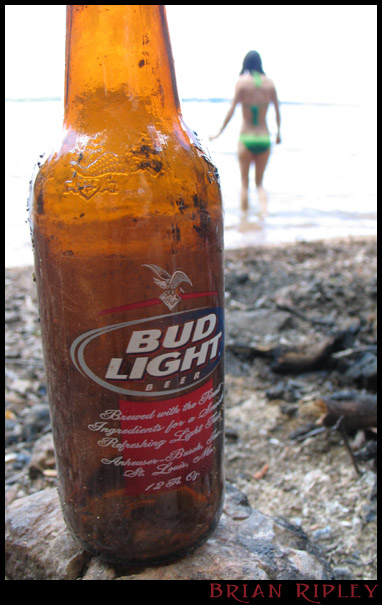 "photo ""Budweiser on the Beach"" tags: landscape, water"
